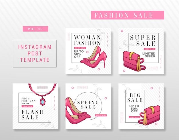 Diseño minimalista de publicaciones en instagram o redes sociales