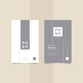Diseño minimalista de tarjeta de visita