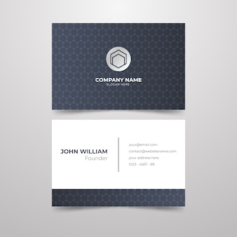 Diseño minimalista de tarjetas de visita