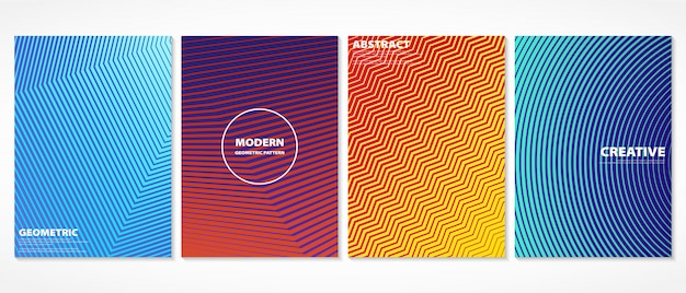 Diseño mínimo colorido abstracto del modelo de las cubiertas.
