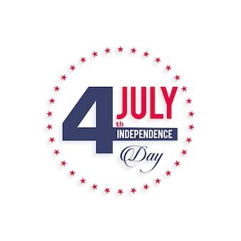 Diseño mínimo para el día de la independencia