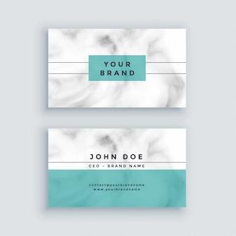 Diseño mínimo de tarjeta de visita de mármol