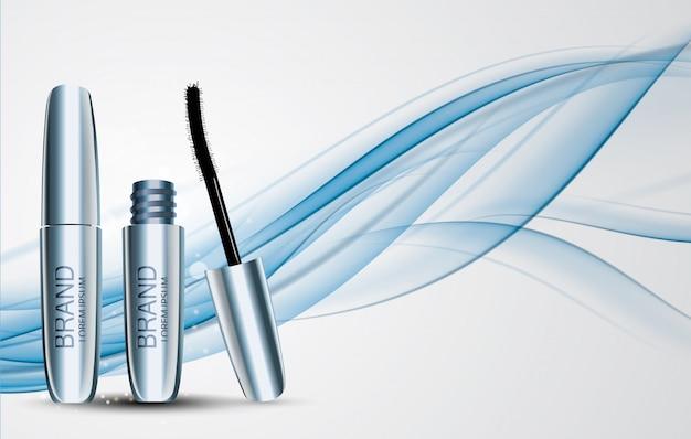Diseño de moda maquillaje productos cosméticos