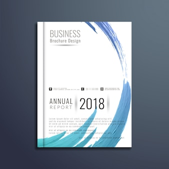 Diseño moderno abstracto de folleto del negocio
