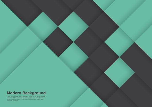 Diseño moderno abstracto fondo negro y verde