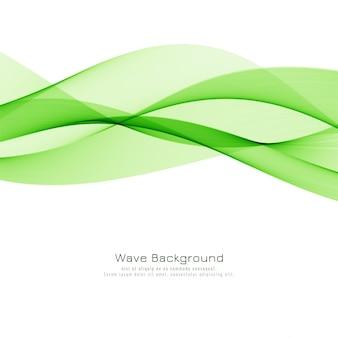 Diseño moderno abstracto del fondo de la onda verde