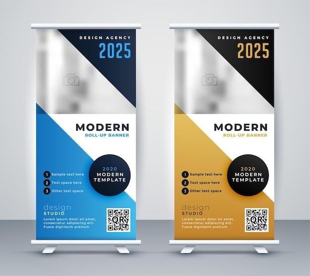 Diseño moderno de banner de standee enrollable