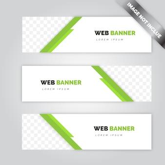 Diseño moderno de banners web
