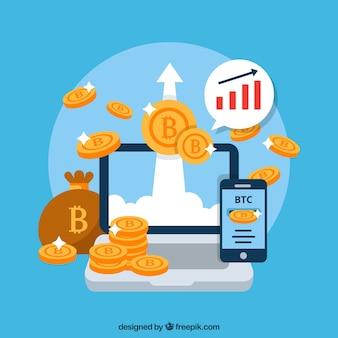 Diseño moderno de bitcoin