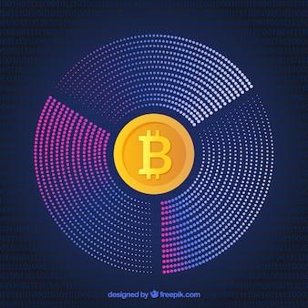 Diseño moderno circular de bitcoin