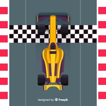 Diseño moderno de coches de carreras de fórmula 1 en pole position