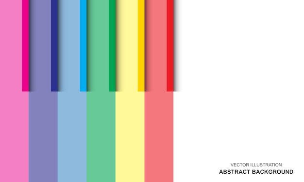 Diseño moderno de color blanco y arco iris de fondo
