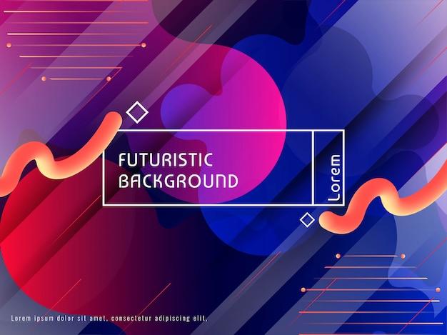 Diseño moderno colorido futurista abstracto del fondo