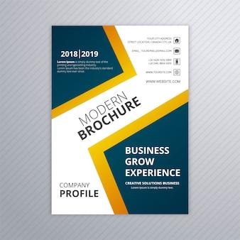 Diseño moderno colorido del vector de la plantilla del folleto del negocio