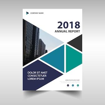 Diseño moderno corporativo de reporte anual