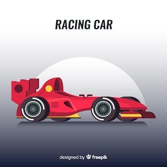 Diseño moderno de coches de carreras de fórmula 1