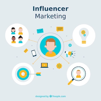 Diseño moderno de influencer marketing