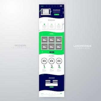 Diseño moderno de plantilla de página de aterrizaje del sitio web