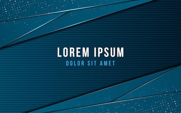 Diseño moderno dinámico de moda creativo abstracto con fondo azul oscuro con concepto de estilo de capa superpuesta