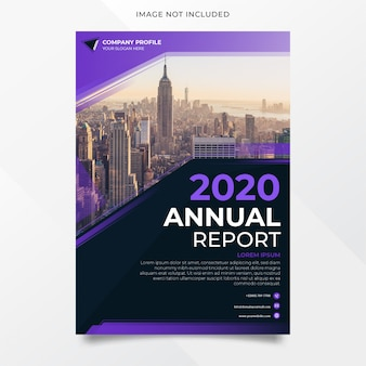 Diseño moderno y elegante del informe anual.