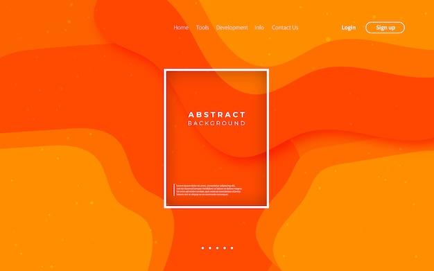Diseño moderno de fondo naranja