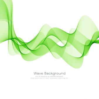 Diseño moderno fondo de onda verde elegante
