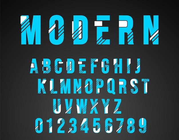 Diseño moderno fuente del alfabeto