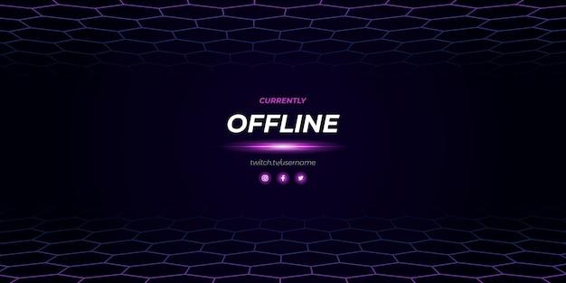 Diseño moderno fuera de línea de twitch púrpura