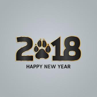 Diseño moderno gris de año nuevo 2018