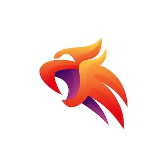 Diseño moderno de ilustración de águila
