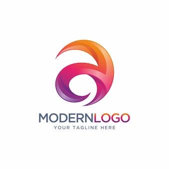 Diseño moderno de la letra a del logotipo.