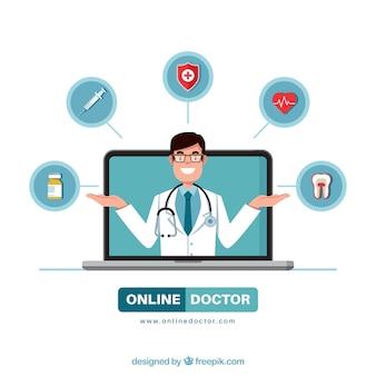 Diseño moderno de médico online