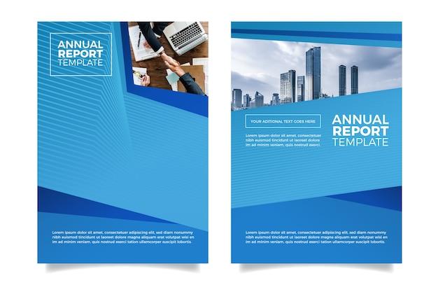 Diseño moderno y minimalista del informe anual.