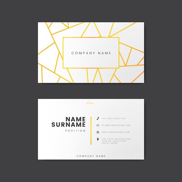 Diseño moderno mínimo de la tarjeta de visita