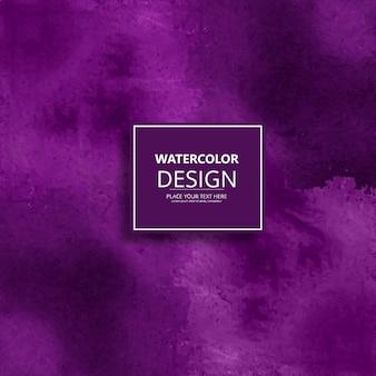 Diseño de moderno morado de acuarela