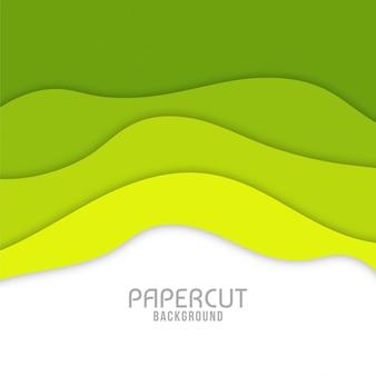 Diseño moderno ondulado del fondo del corte del papel