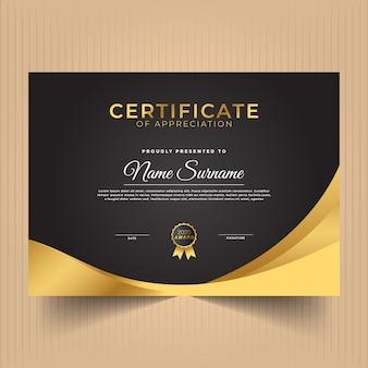 Diseño moderno de plantilla de certificado