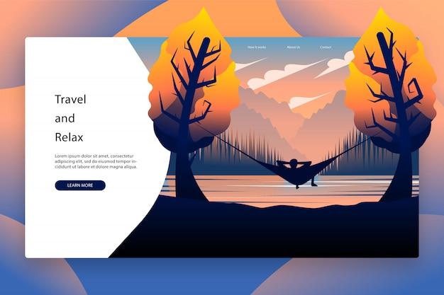 Diseño moderno de plantilla de página de aterrizaje
