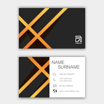 Diseño moderno de la plantilla de la tarjeta de visita
