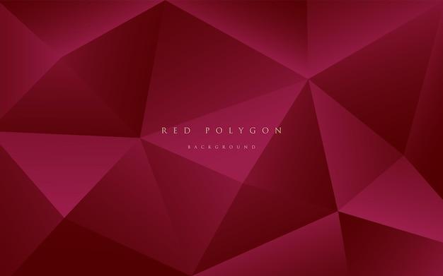 Diseño moderno poligonal rojo granate degradado de lujo 3d abstracto patrón triangular geométrico