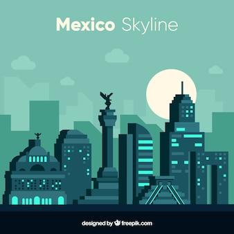 Diseño moderno de la skyline de mexico