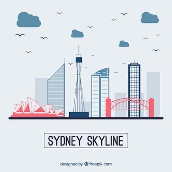 Diseño moderno de la skyline de sydney