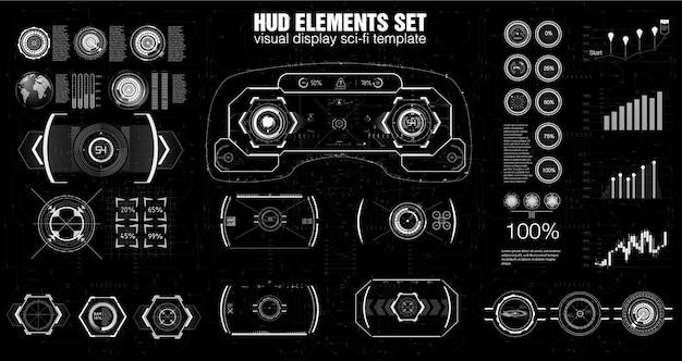 Diseño moderno del tablero de instrumentos de hud