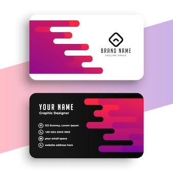 Diseño moderno de tarjeta de visita creativa.