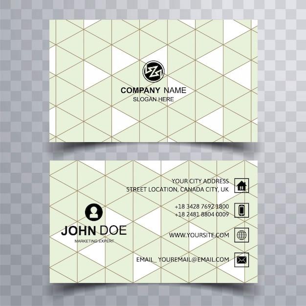 Diseño moderno de tarjeta de visita con formas triangulares