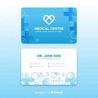 Diseño moderno de tarjeta de visita médica
