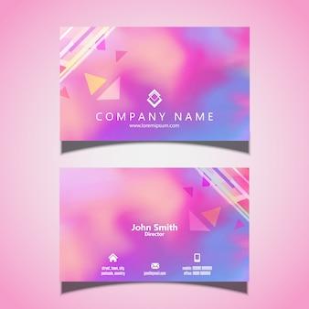 Diseño moderno de la tarjeta de visita con textura de acuarela