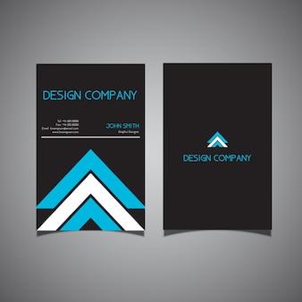 Diseño moderno de tarjeta de visita