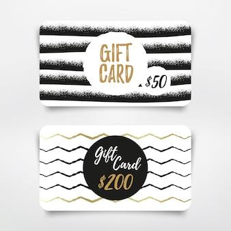 Diseño moderno de tarjetas de regalo. plantilla de vector.