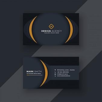 Diseño moderno de tarjetas de visita negras